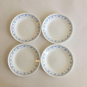 Corelle Blue saucers set of 4